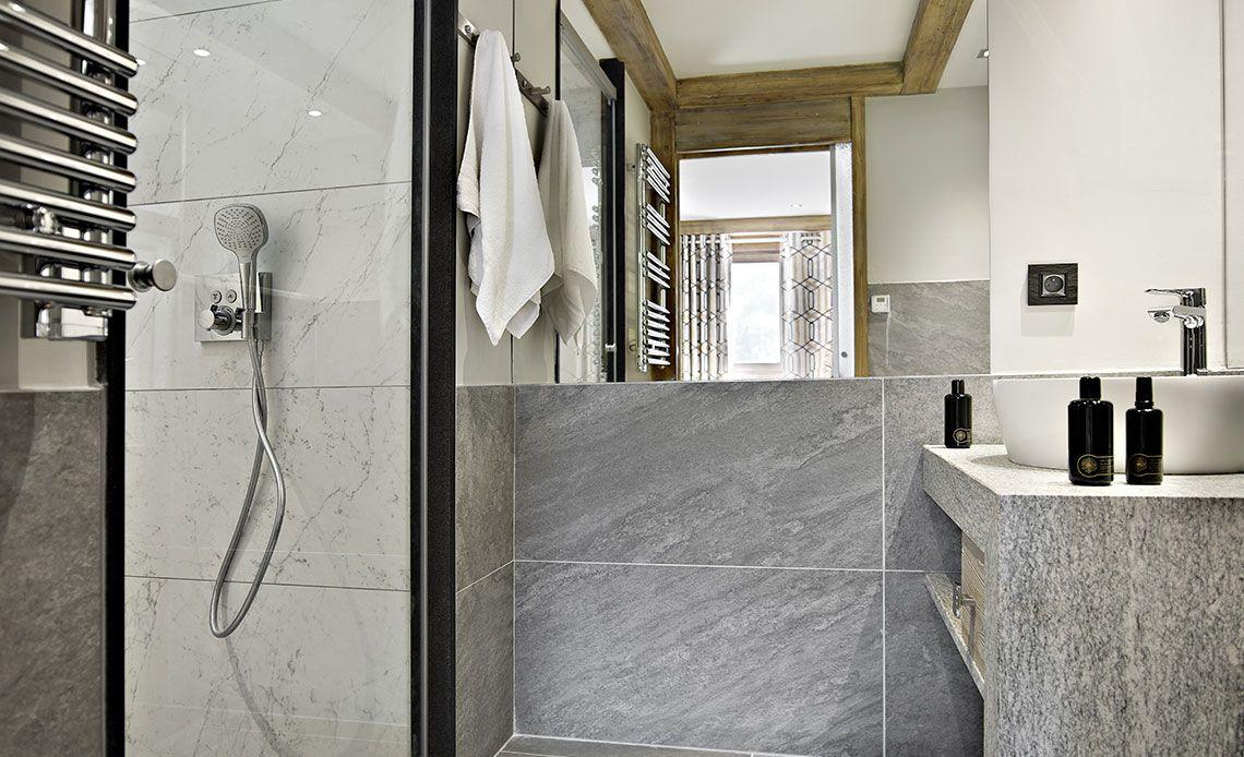 Chalets Éléna - Bathroom | Résidence Chamonix - Les Houches | MGM Hôtels & Résidences