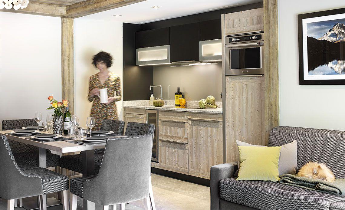 Chalets Éléna - living room | Résidence Chamonix - Les Houches | MGM Hôtels & Résidences