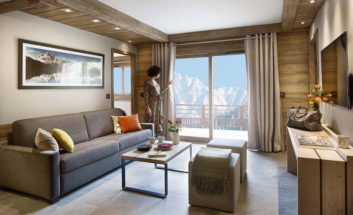 Chalets Éléna - sitting room | Résidence Chamonix - Les Houches | MGM Hôtels & Résidences