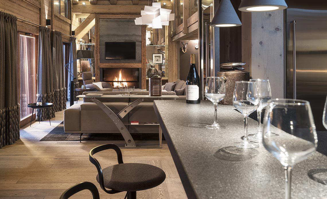 Appartement Écrin de Jade - Bar - Le Cristal de Jade - Chamonix Mont-Blanc | MGM Hôtels & Résidences