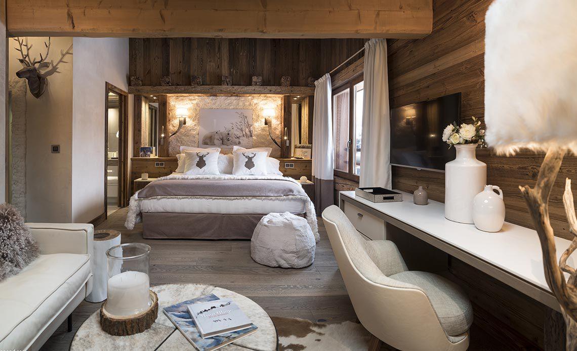 Appartement Écrin de Jade - Chambre blanche - Le Cristal de Jade - Chamonix Mont-Blanc | MGM Hôtels & Résidences