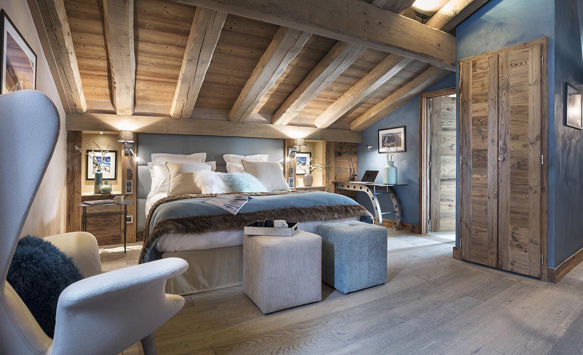 Appartement Écrin de Jade - Chambre bleu - Le Cristal de Jade - Chamonix Mont-Blanc | MGM Hôtels & Résidences