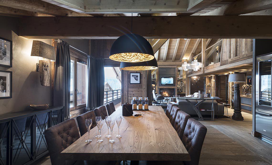 Appartement Écrin de Jade - Salle à manger - Le Cristal de Jade - Chamonix Mont-Blanc | MGM Hôtels & Résidences