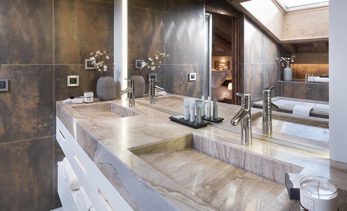 Appartement Écrin de Jade - Salle de bains detail - Le Cristal de Jade - Chamonix Mont-Blanc | MGM Hôtels & Résidences