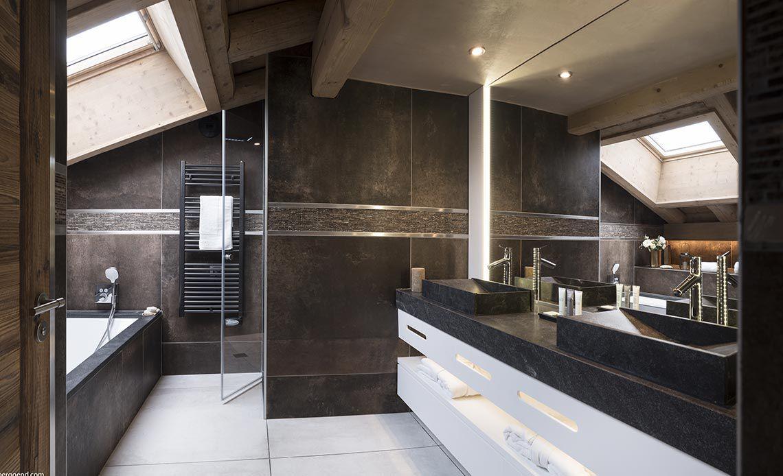 Appartement Écrin de Jade - Salle de bains - Le Cristal de Jade - Chamonix Mont-Blanc | MGM Hôtels & Résidences