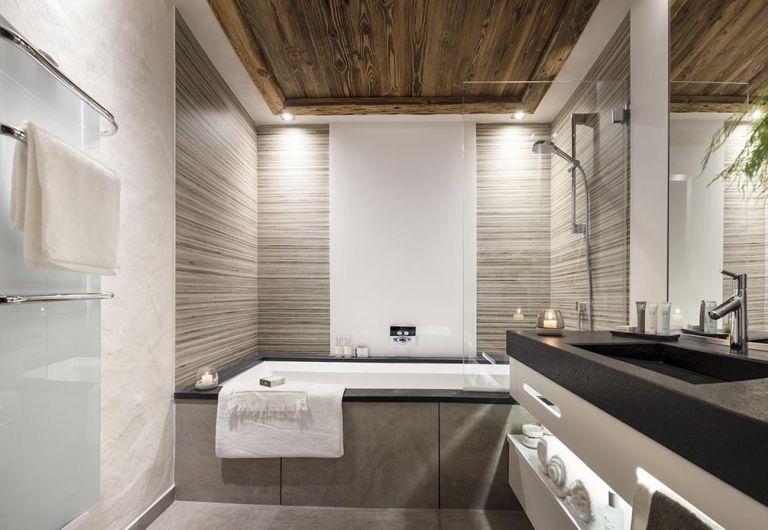 Salle de bains le Cristal de Jade - Chamonix Mont-Blanc | MGM Hôtels & Résidences