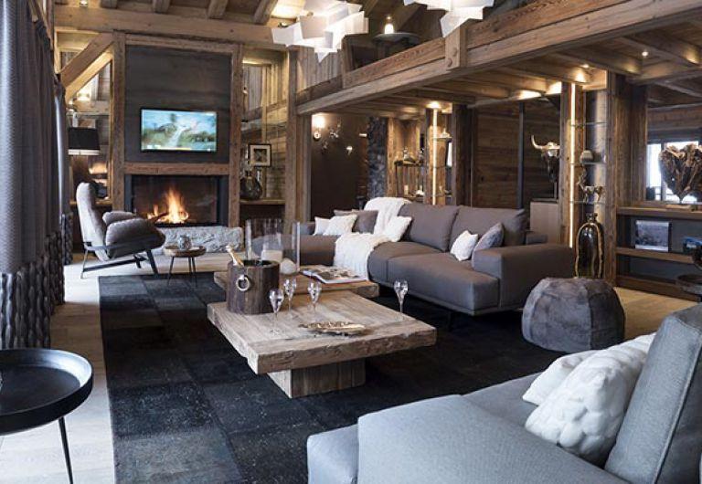 Salon élégant de l'Ecrin de Jade - Chamonix | MGM