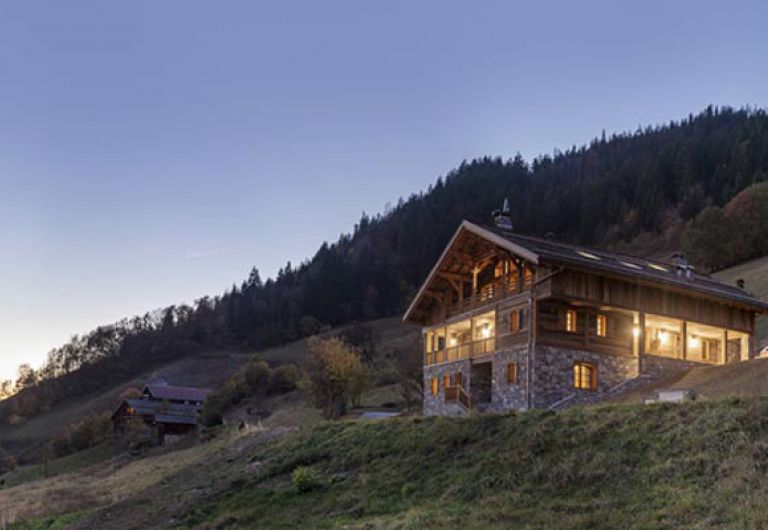 Chalet la ferme de Juliette - outdoor from night - Le Grand-Bornand | MGM