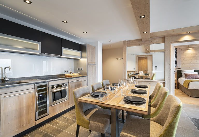 Appartement Cuisine Résidence Alpen Lodge - La Rosière   MGM Hôtels & Résidences