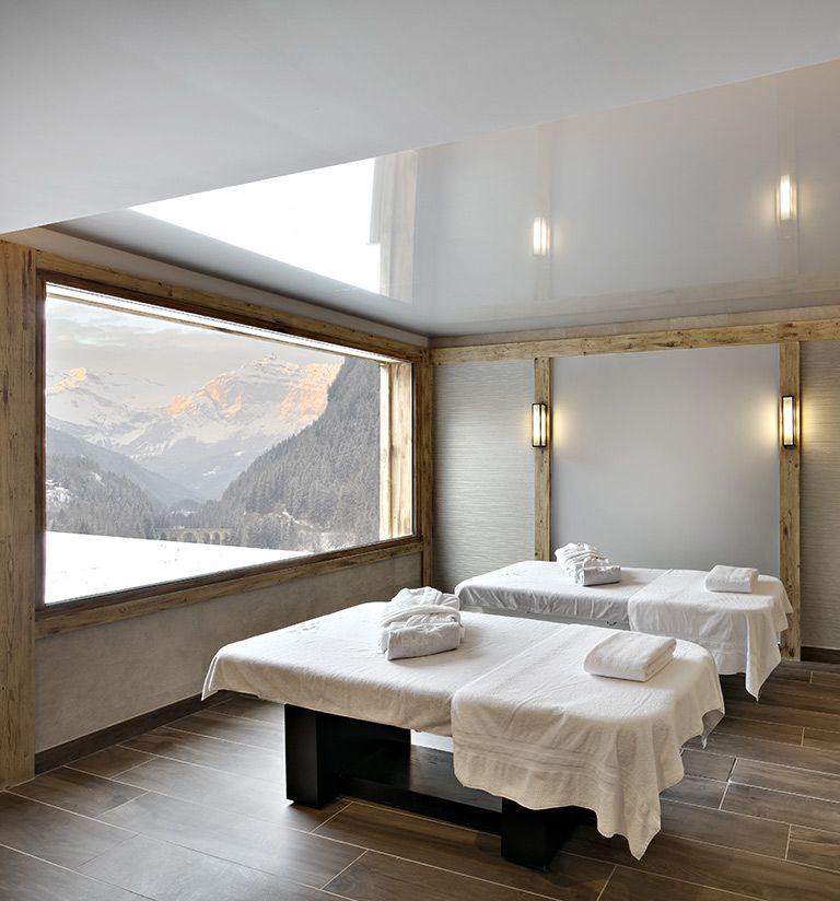 Les cabines de soins- résidence Chalets Elena - Les Houches | MGM Hôtels & Résidences