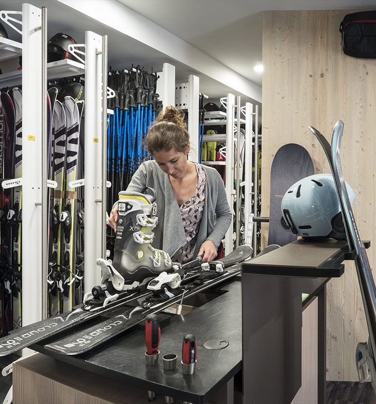 Sports shop - Ski room - Residence Amaya - Les Saisies | MGM Hôtels & Residences