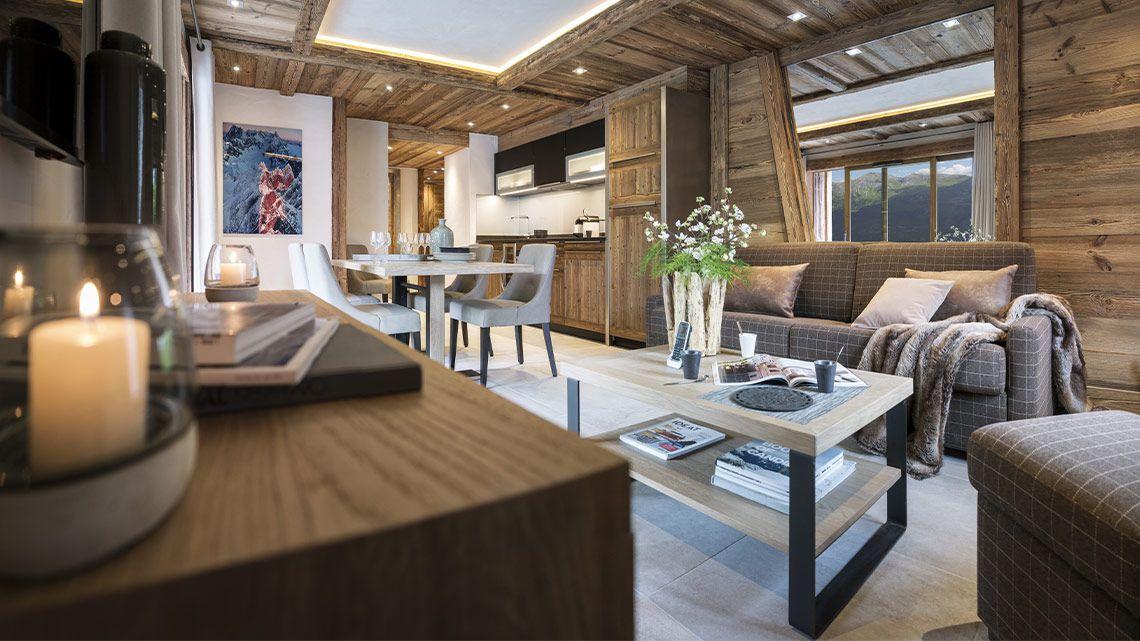 Living room at the Cristal de Jade à Chamonix